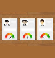 customer credit history documents vector image