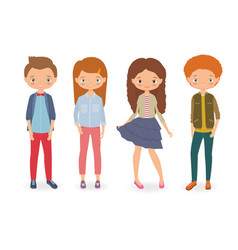 fashion kids vector image vector image
