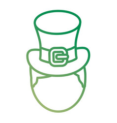irish top hat icon vector image