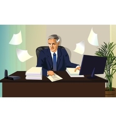 Man the official paper for office work vector image vector image