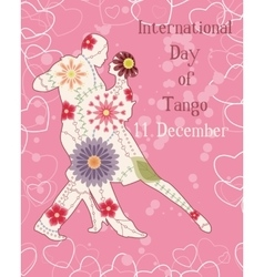 Tango day background vintage vector image vector image