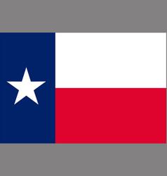 flag of texas usa vector image