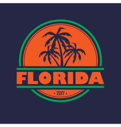 Florida 2017 label vector image vector image