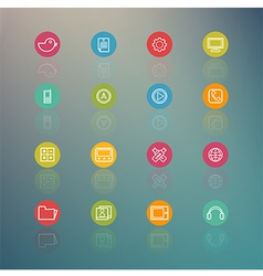 media and Mobile Interface Circle Series on Retina vector image
