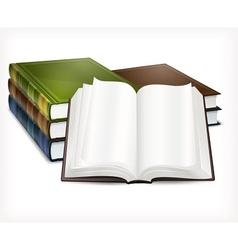 New books open on white vector image