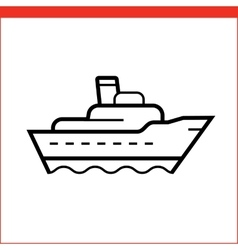 Package delivery ship icon vector image vector image