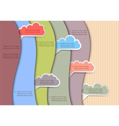 Paper background with clouds for speech vector image