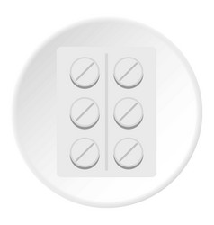 Pills icon circle vector