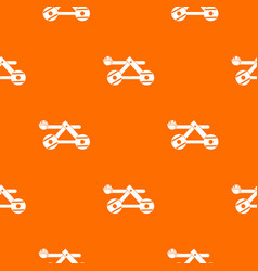 Ancient wooden catapult pattern seamless vector