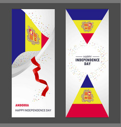 Andorra happy independence day confetti vector