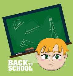 back to school cartoons vector image