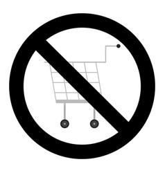 ban shopping icon vector image