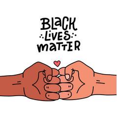 black lives matter poster banner black lives vector image