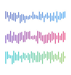 black music sound waves audio technology musical vector image