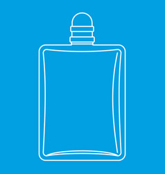 bottle of female perfume icon outline style vector image