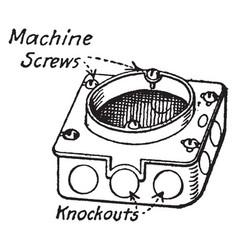 Bracket box vintage vector