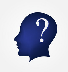 brain head question mark logo symbol vector image