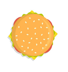 burger icon top view vector image