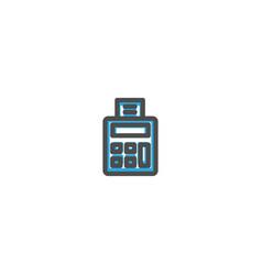 calculator icon line design e commerce icon vector image