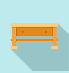 Carpenter work table icon flat style vector