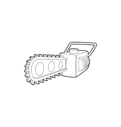 Chainsaw icon outline style vector image vector image