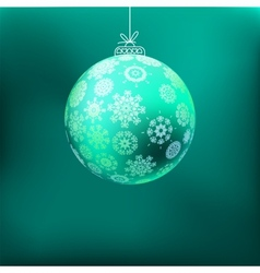 Christmas background with blue ball EPS8 vector