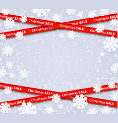 christmas sale restriction red stripes zone vector image