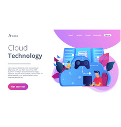 cloud gaming concept vector image