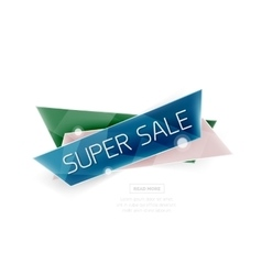 Colorful geometric website sale tag button vector image