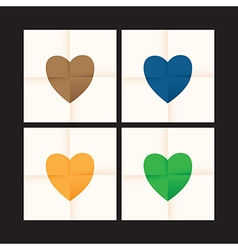 coloured heart set vector image