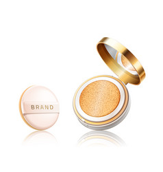 Cosmetic foundation case open container vector