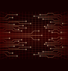 cpu computer technology electronic concept red vector image