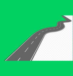 curved road with markings vector image