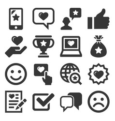customer reviews and feedback icon set vector image