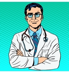 Doctor therapist medicine and health vector
