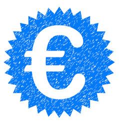 euro warranty stamp grunge icon vector image