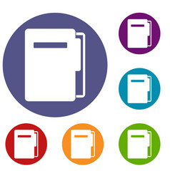 File folder icons set vector