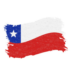 flag of chile grunge abstract brush stroke vector image