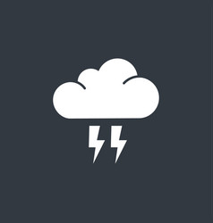 Flat cloud flash icon vector