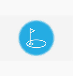 golf icon sign symbol vector image