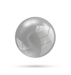 Gray sphere vector
