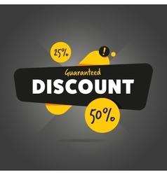 Guaranteed discount advertisement promo banner vector image