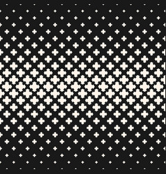 Halftone texture seamless pattern with crosses vector