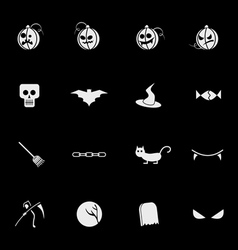 halloween mobile icons vector image