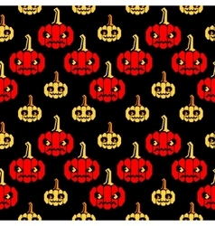 Halloween zigzag pattern with pumpkins vector