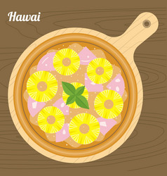 Hawai pizza vector