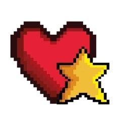 heart game pixel figure vector image