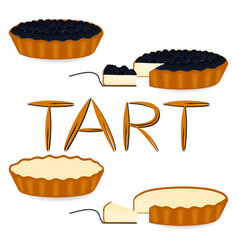 Icon logo for whole berry cake tart vector