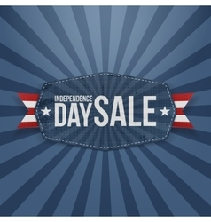 Independence Day Sale paper Badge vector image