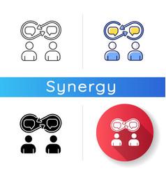 Interpersonal relationship icon vector